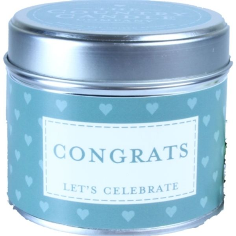 Congrats - Let's Celebrate Candle In A Tin